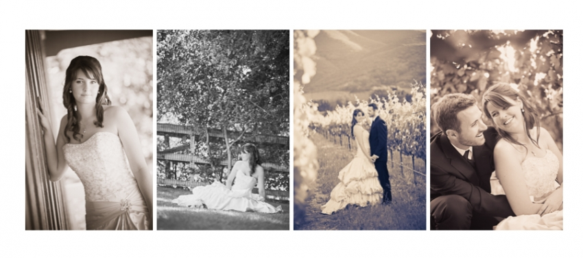 Mismatched Black and White Wedding Editing