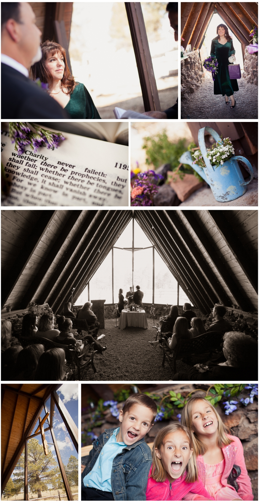 Tiny Wedding Chapel Ceremony - Gilbert Wedding Photographer