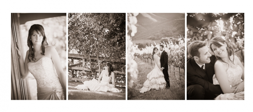 Cohesive Black and White Wedding Editing