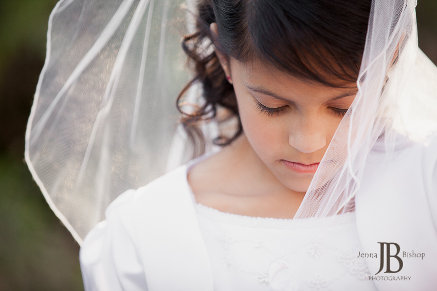 first communion dress and veil