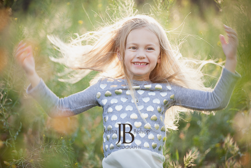 little girl with crazy blond hair