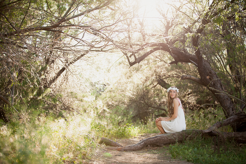 girl in nature gilbert senior photographers