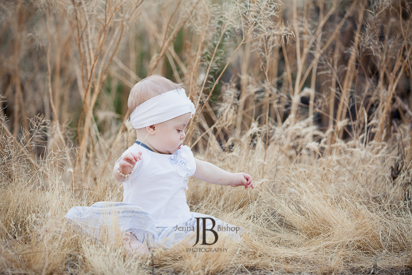 baby girl in the grass phoenix photographers