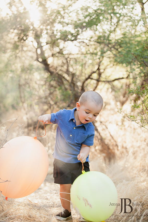 Little boy with ballons