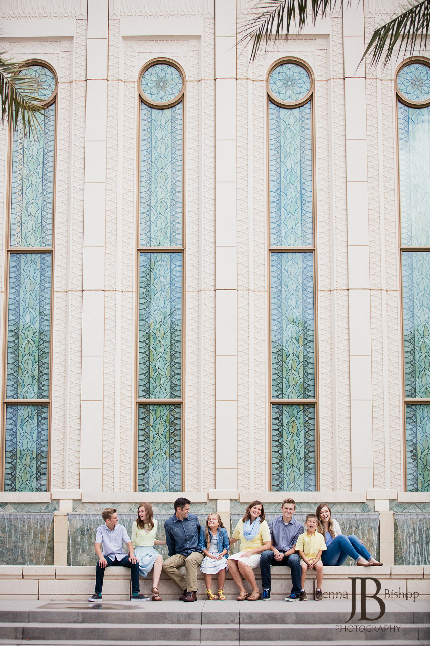 gilbert LDS temple family photos