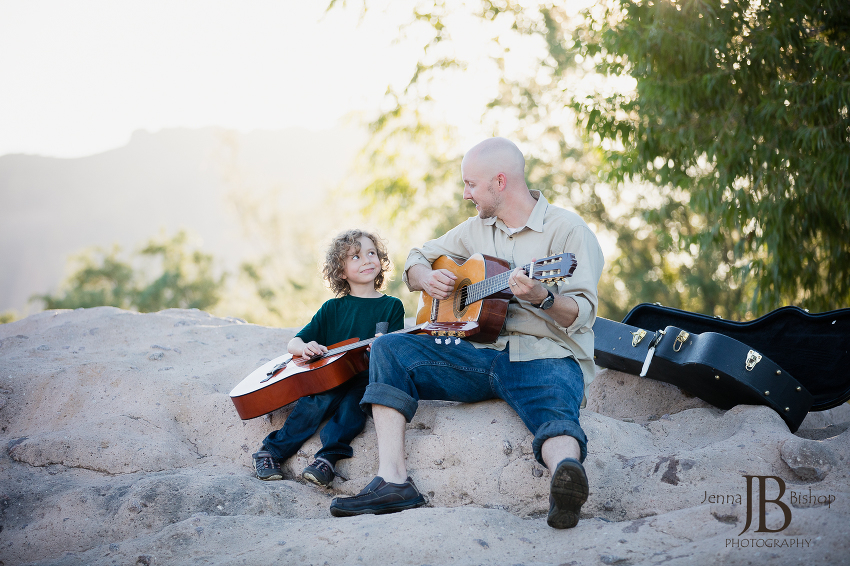 father and son guitar family photos