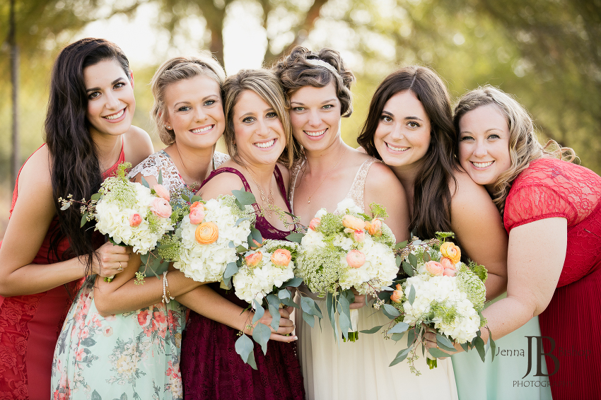 girls bridal party colorful dresses