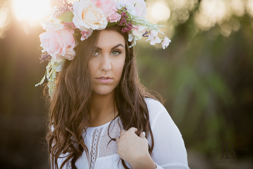 flower crown gilbert photographers seniors