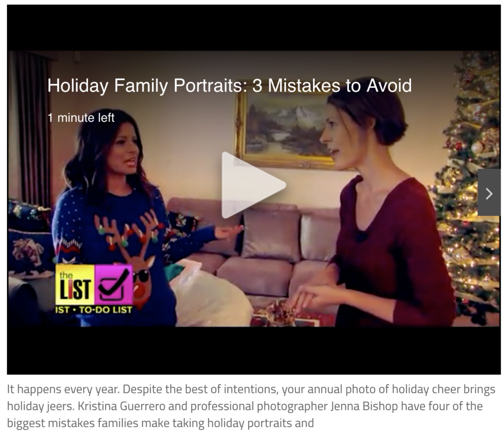 Jenna bishop Photography featured on thelisttv